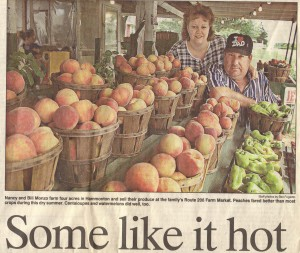 It was one hot summer in 1999 Peaches were sweet and juicy